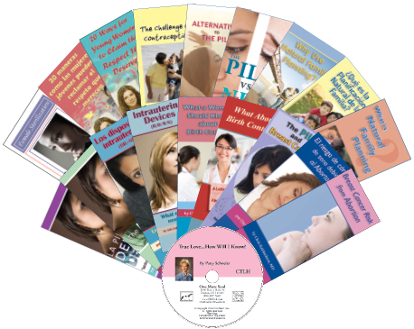 "An assortment of 18 pamphlets and CD-""True Love...How Will I Know"", which share the beauty of God's plan for love, marriage, sex, and family."